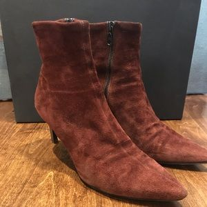 Rag and Bone Beha Stretch Boot in Mahogany Suede